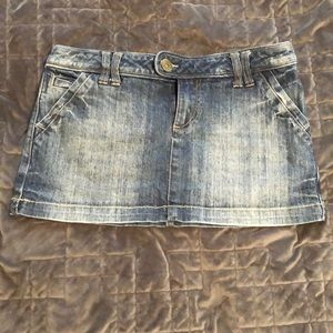 Recycled Cotton Jean mini skirt